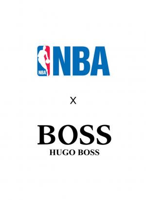 Logo de NBA y Hugo Boss